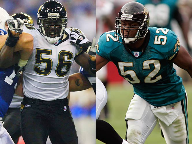 The Jaguars have to replace the exiled Mike Peterson and it's going to be a battle between Justin Durant, penciled in as the starter, and Daryl Smith, who could end up in the middle if Durant falters.