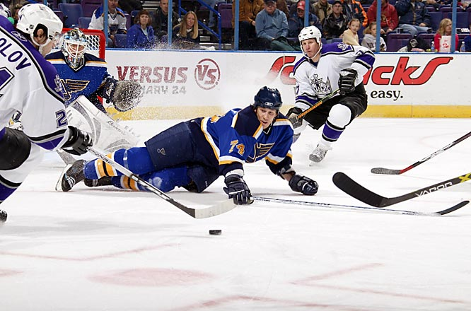 The shot-blocking blueliner out of Buffalo got a four-year, $16 million deal from St. Louis where his stay was marred by injuries and low productivity, prompting the Blues to buy out the final year of his deal.