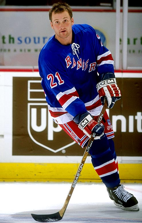 """After scoring 23 points in 29 games for Edmonton, the Rangers awarded the 27-year old winger a three-year deal worth $4 million. According to one tale, he showed up at the team's Halloween party with a large bag, and when asked who he was supposed to be, replied, """"My agent."""" Alas, Fraser played only 28 games for the Rangers and scored two goals before receiving a ticket to the AHL, from which he never returned."""