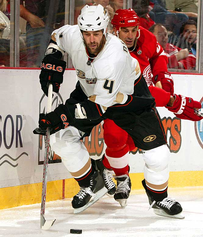 "GM Brian Burke gave two-years and $8 million to the declining roughneck winger who put up 40 points and 97 PIM and, according to a teammate ""was toxic in the dressing room"" during his one season in Anaheim. Bertuzzi was waived and wound up in Calgary, where he was again on the market after only one year."