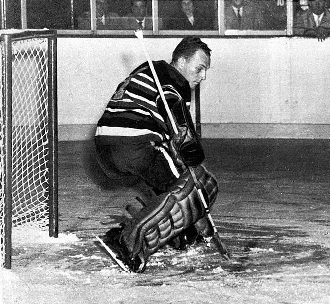 Perhaps the most mind-bending Hart winner of all, this Chicago Blackhawks goaltender won the Vezina in 1951 but took MVP honors in 1954 with a record of 12-47-7 and a 3.23 GAA. Five of his 12 wins were shutouts, which were pretty much what Rollins had to pitch in order to win behind a thoroughly awful team.