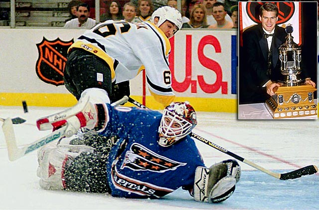 Among the many goaltending luminaries (Martin Brodeur, Patrick Roy, Jacques Plante) in the ranks of Vezina winners is Jim Carey, a Washington Capitals netminder who beat out Chris Osgood of the Red Wings for the trophy in 1996. Carey posted excellent numbers (35-24-9, 2.26 GAA, 9 shutouts), but never had another winning season and was out of hockey by 1999.