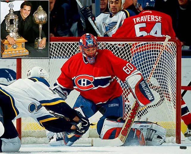 An anomaly among Hart winners, the Montreal goaltender beat out Calgary's Jarome Iginla in 2002 while winning the Vezina with a record of 30-24-10, seven shutouts, a 2.11 goals-against average and a .931 save percentage. Theodore has since struggled to approach that level of excellence with the Colorado Avalanche, Washington Capitals, Minnesota Wild and Florida Panthers.