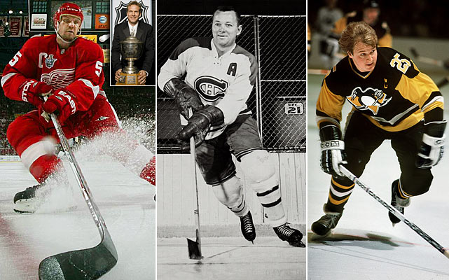 Nicklas Lidstrom, the Red Wings' nonpareil captain, won the Norris seven times, trailing only Bobby Orr by one and tying Doug Harvey (center), the Canadiens' superb Hall of Famer who some feel may have been even better than Orr. Randy Carlyle (right), current coach of the Toronto Maple Leafs, has the distinction of beating out New York Islanders Hall of Famer Denis Potvin for the Norris in 1981 while playing for Pittsburgh. It was Carlyle's only Norris during his 17-year NHL career.