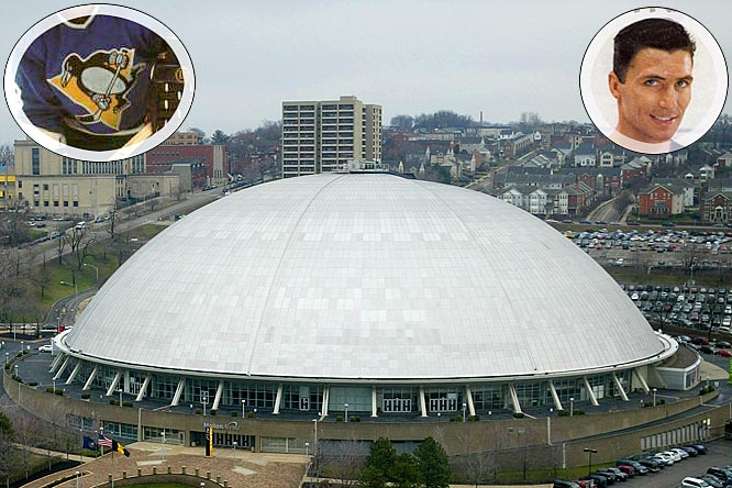The Penguins join the NHL as one of six expansion teams, their name inspired by the Pittsburgh Civic Arena, otherwise known as The Igloo. Wearing blue and playing in the Western Conference, the Pens lost their first game: to Montreal 2-1 in front of 9,307 home fans. Andy Bathgate (inset) scored their first goal. The only one of the six new teams to not make playoffs during their first two seasons, the Penguins would win their first postseason game in April 1970, beating the Oakland Seals, 2-1, en route to a three-game sweep.