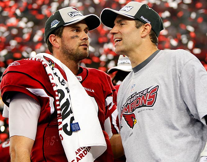 If the whole NFL quarterback thing doesn't work out for Leinart, perhaps he can try MMA. He's been training this offseason with NFL reporter Jay Glazer, who apparently moonlights as an MMA trainer. Maybe Leinart should try challenging Kurt Warner to a fight in the Octagon for the Cardinals' starting quarterback job this season.