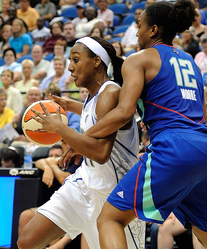 Yet another obstacle emerged in the Lynx's steeplechase of a season last Wednesday, when league MVP-favorite Seimone Augustus suffered a season-ending left ACL tear. (She was bumped while driving to the hoop and landed awkwardly.) Candice Wiggins (pictured), who dropped a season-high 25 points on the Liberty Tuesday night, will have to shoulder the offensive load, but she'll get help from Nicky Anosike, who had her own season-high 21 points in a 104-80 loss against Phoenix.<br><br>Next three: 6/27 vs. Phoenix; 6/30 at Atlanta; 7/2 vs. Sacramento