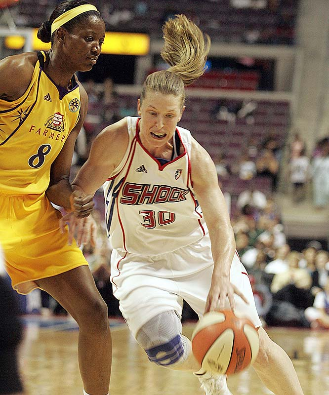 It was a bittersweet week of milestones for the Shock. First, venerable guard Katie Smith (pictured) became the first player in WNBA history to record 5,000 points, 1,000 rebounds, 900 assists and 300 steals. But then her Shock went on to blow a 17-point lead and lose Sunday's game against the Fever, 82-70. (The fulcrum moment came in the second half, when Indiana outscored Detroit 40-8.) The defeat saddled the Shock with its first consecutive losses to the Fever since the '04-05 season. <br><br>Next three: 6/26 at New York; 6/27 vs. New York; 7/2 vs. Connecticut