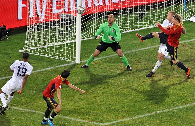 Tim Howard had allowed six goals in his first three games of the World Cup warm-up tournament before blanking Spain.