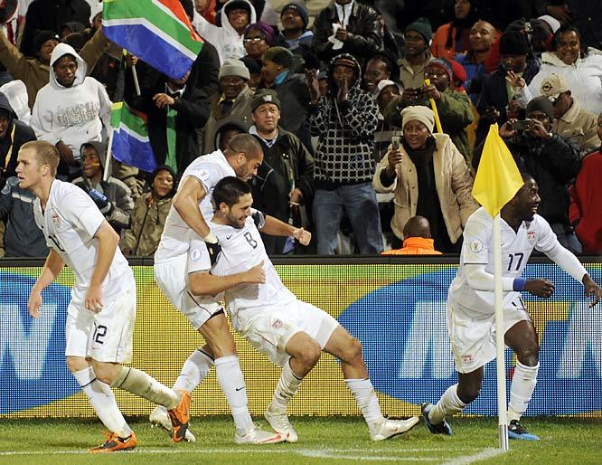 The U.S. awaits the winner of the Brazil-South Africa match.