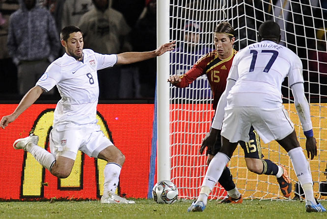 Clint Dempsey scored in the 74th minute to give the U.S. its 2-0 lead.
