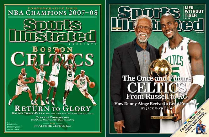 "Behind the ""Big Three"" trio of Ray Allen, Kevin Garnett, and Finals MVP Paul Pierce, Boston defeated the Lakers for their 17th NBA title. It was the franchise's first championship in 22 years."