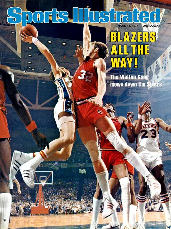 With Jack Ramsey behind the bench and Bill Walton in the pivot, Portland rebounded after losing its first two Finals games to Philadelphia. The Blazers swept the final four games of the series, including wins at home in Games 3, 4 and 6 and Game 5 in Philadelphia. Walton was named the Finals MVP with 23 points and eight blocks in the Game 6 win.