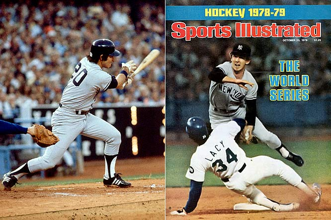 After catching the Boston Red Sox in a dramatic pennant chase, the Yankees dropped the first two games of the World Series at Dodger Stadium. But New York roared back with four straight wins thanks to previous light-hitting infielders Bucky Dent (left) and Brian Doyle (right). Dent won the MVP with a .417 average and seven RBI. Doyle hit .438 and scored four runs.