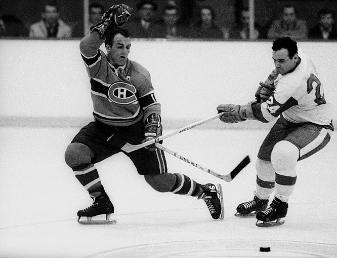A series famous for Henri Richard's goal at 2:20 of overtime in Game  6 (he also scored the winner in Game 7 of the 1971 final versus the Blackhawks), Montreal swept the final four games of the series.