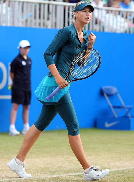 The 22-year-old Russian is tuning up for Wimbledon with a strong week at the Aegon Championships, Sharapova's third tournament since her return from a shoulder injury that sidelined her for almost 10 months.