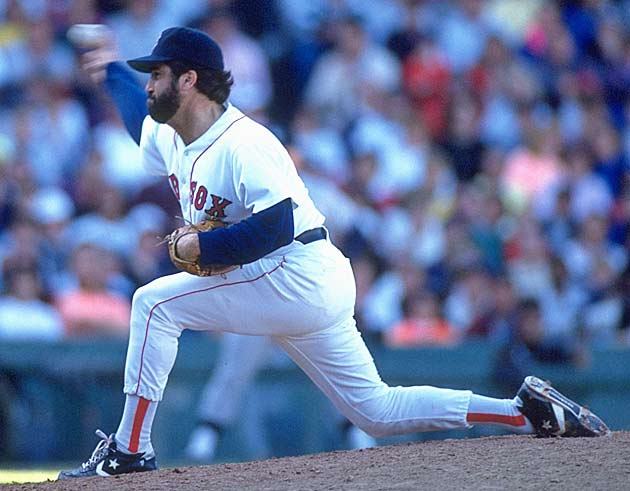 Pitching one scoreless inning to protect a 1-0 lead, Red Sox reliever Jeff Reardon breaks Rollie Fingers' career save mark of 341.