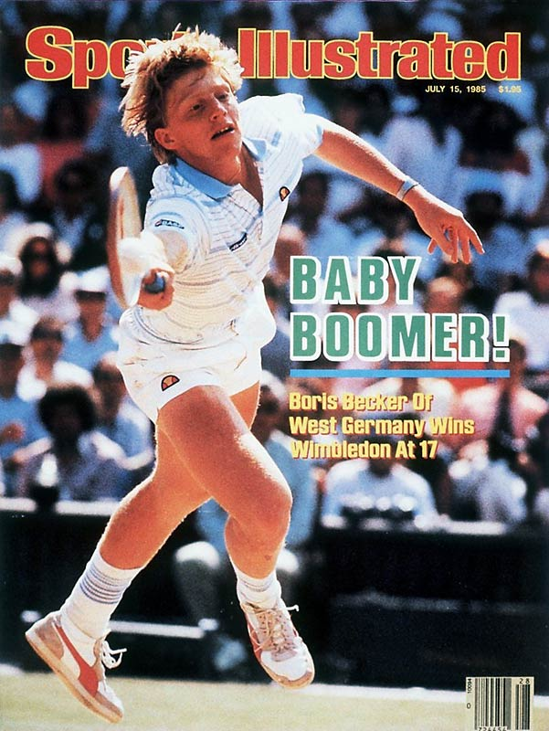 In 1985, 17-year-old Boris Becker, a virtual unknown, exploded onto the scene at Wimbledon, where his powerful serve, endless energy and charisma soon made him a star. By defeating Kevin Curren in the final, Becker became the youngest male Grand Slam singles champion (17 years, 7 months).