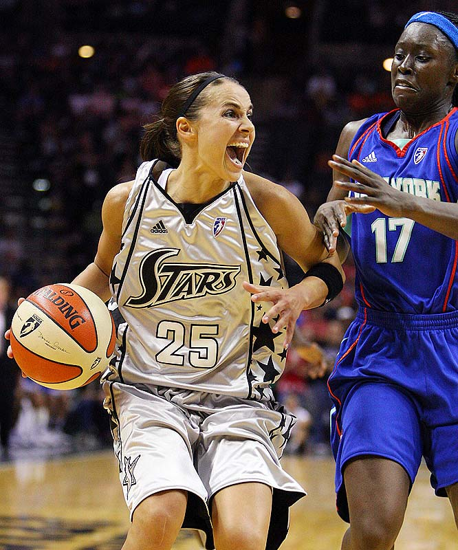 Becky Hammon's (pictured) Faustian pact with the Russian club team CSKA Moscow has finally come back to haunt her. While the deal allowed her to make some nice money (four years, for an estimated $2 million) and realize her dream of playing in the Olympics (she won a bronze medal with the Russian national team), she now finds herself in the untenable position of having to take a leave to play for Russia in the European women's basketball championships. The 32-year-old Hammon, who is averaging 18.0 points and 6.0 assists, is expected to rejoin the Silver Stars on June 23 against Phoenix.<br><br>Next three: 6/19 at New York; 6/21 at Connecticut; 6/23 vs. Phoenix
