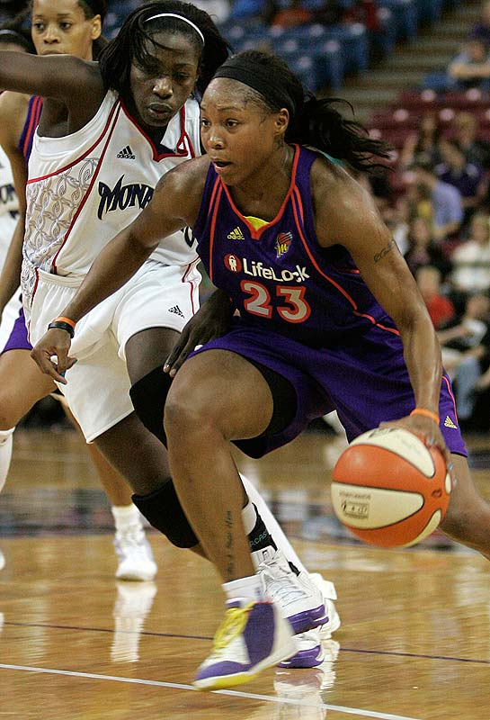 The Mercury's home-and-home split against Sacramento is a testament to their ability to make adjustments. After seeing top scorers Diana Taurasi and Cappie Pondexter (pictured) held in check in a 90-71 defeat in Sacramento last Saturday, Phoenix made a point of moving the ball around and getting everyone involved the next day at home. The result was a 115-104 overtime victory in which all five starters scored in double figures. Taurasi, Pondexter and Le'Coe Willingham combined for 79 points.<br><br>Next three: 6/17 vs. Minnesota; 6/19 vs. Los Angeles; 6/21 vs. Seattle
