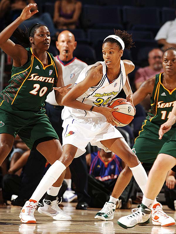 As usual, the Mercury don't lack for scoring. It's their confidence that's newfound this year. It comes courtesy of rookie DeWanna Bonner (pictured)  -- who, with 16 points and 11 rebounds in her WNBA debut, has thus far proven a plenty capable replacement for the still-MIA Penny Taylor. <br><br>Next three: 6/10 vs. New York; 6/12 at Sacramento; 6/13 vs. Sacramento