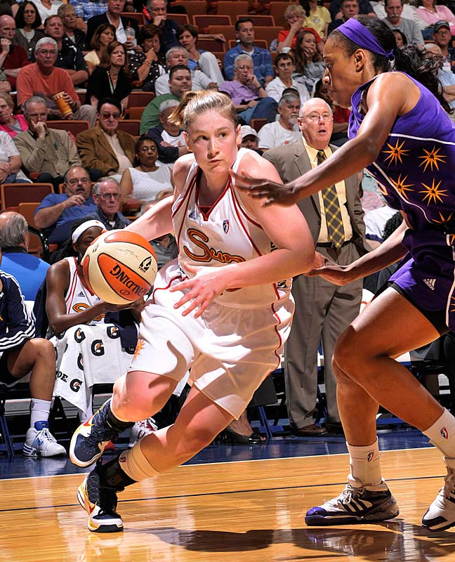 After losing to the Mystics in the opener, they embarrassed the hustle-minded Liberty on the boards. No other player has served up more humiliation than 5-9 guard Lindsay Whalen (pictured), who helped herself to a career-high 12 rebounds -- or five more than the Liberty's 6-4 board machine Cathrine Kraayeveld.<br><br>Next three: 6/14 vs. Atlanta; 6/16 at Chicago; 6/19 vs. Chicago