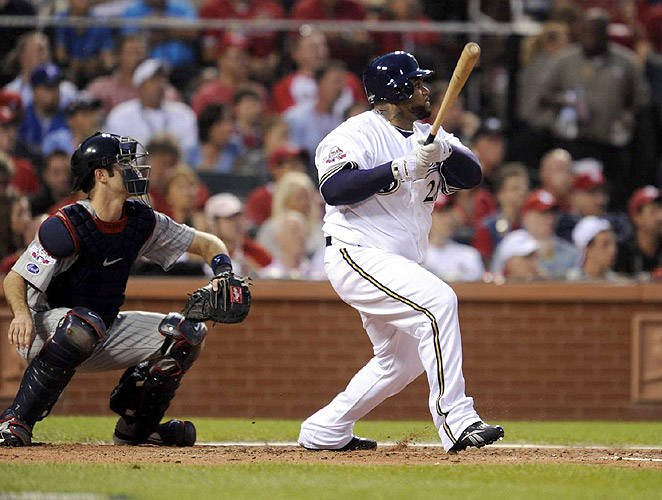 Prince Fielder, the Home Run Derby champ, laced an opposite-field double to give the NL a 3-2 lead in the second.