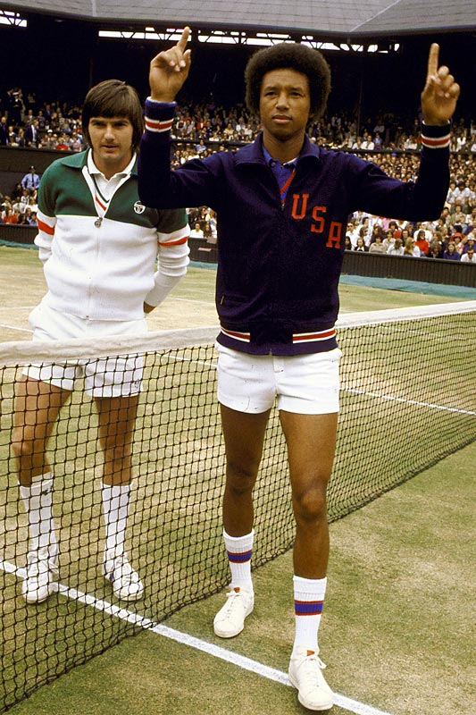 "I don't remember my first brush with Wimbledon, but my mom does. I was 3 years old in the summer of 1975 when Arthur Ashe defeated Jimmy Connors in the men's final, a moment that she celebrated by picking me up, holding me in front of the television and telling me, ""He looks like you! He looks like you!"" This was my mom's way of telling me that anything in life was possible -- that I, too, could grow up and do anything I wanted. She was right. I wonder what it would be like to sit at Centre Court and see the grass and watch Federer, Nadal and the Williams sisters. I'm sure I would think about Arthur Ashe. I'm sure my mom would, too."