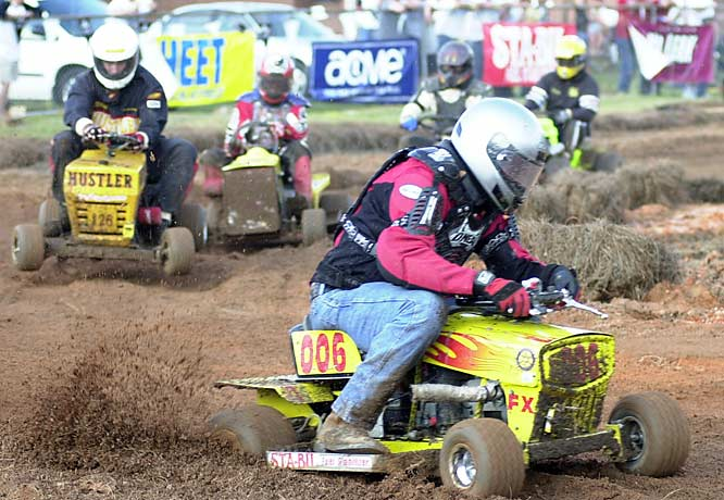 On the cutting edge of alternative sports for motor enthusiasts, the U.S. Lawn Mower Racing Association offers competitions across the country in five classes: stock, international mowers of weeds, prepared (modified), FX (major modified) and JP (juniors/kids). No, the blades aren't spinning during a race -- they've been removed.