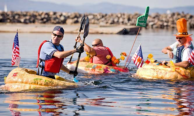 If they're big enough, gourds make excellent boats as the competitors in pumpkin regattas on such bodies of water as Lake Champlain (VT), Lake Mendota (WI) and Lake Pesaquid (Windsor, Nova Scotia) well know.
