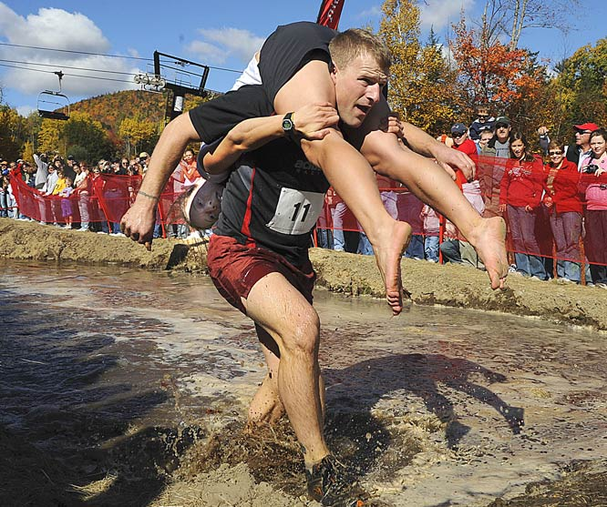 A product of Finland and Estonia, this sport requires a man to carry his dearly betrothed over a grueling obstacle course. The annual North American Wife Carrying Championships are held on Columbus Day Weekend in Newry, ME.