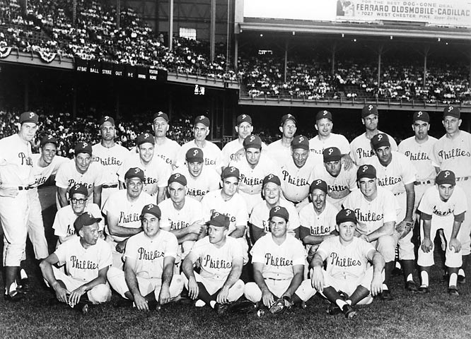 Featuring a team with young stars Richie Ashburn, Curt Simmons and Robin Roberts, the 1950 Phillies clinched the pennant (the team's first in 35 years) on the final day of the season before losing 4-0 to the Yankees in the World Series.