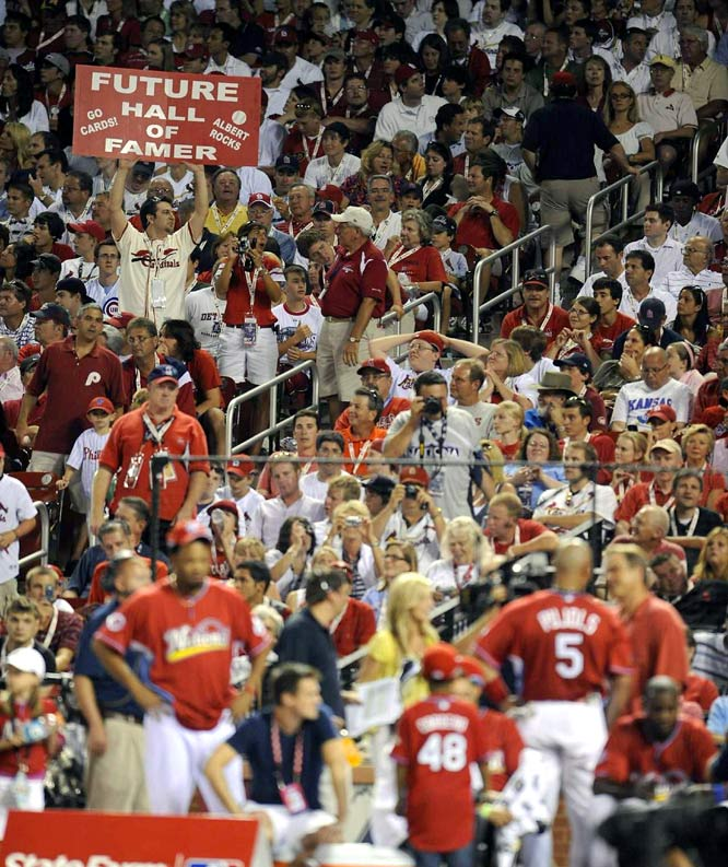 It wasn't Pujols' night, but that didn't spoil the fans' enthusiam for their hero.