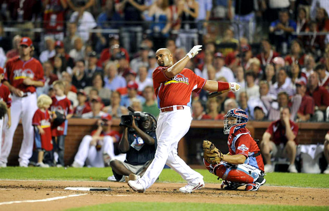 Pujols was clearly the people's choice. He hit 11 home runs on the night and was eliminated in Round 2.