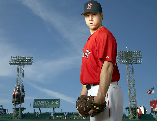 Jonathan Papelbon had his game face on for this 2007 photo shoot. In less than four years, Papelbon has become one of baseball's top closers and holds the franchise record for saves.