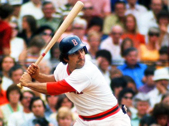 Rico Petrocelli is the picture of focus as he waits for a pitch. The Brooklyn native spent 13 seasons as a Red Sox, making two All-star games, and was a key cog in Boston's run to the 1967 and 1975 World Series.