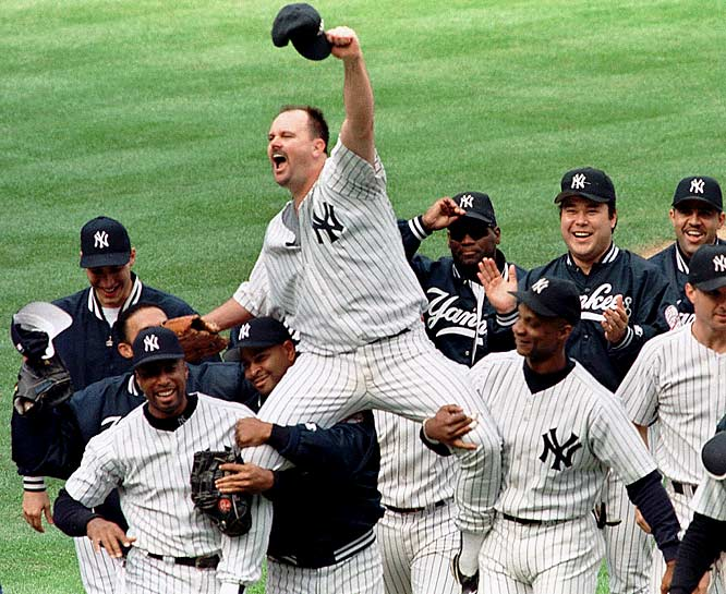 "Billy Crystal walked into the clubhouse after the game, approached David Wells and said, ""I got here late, what happened?"" What happened was nothing short of spectacular as Wells improved to 5-1, striking out 11. Bernie Williams went 3-for-3, including a homer, and scored three runs."