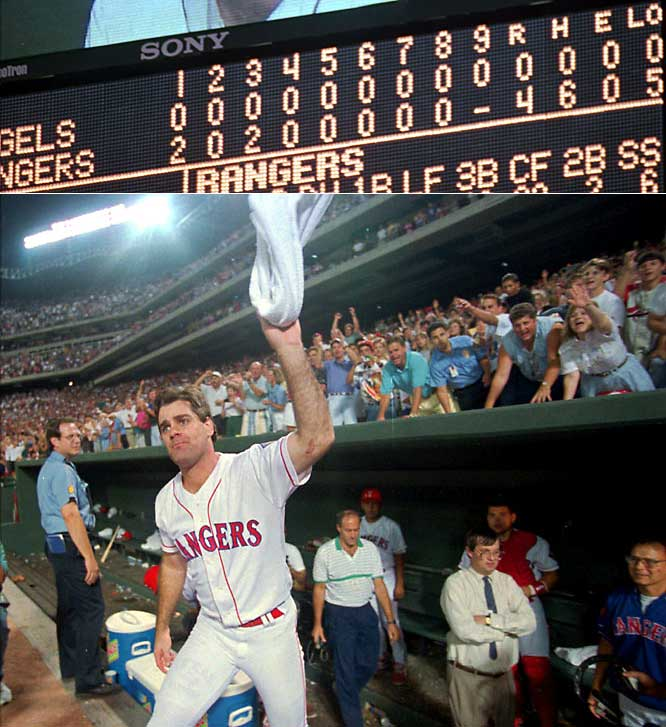 The Rangers converted Rogers to a starter the previous season and he took the mound with a 10-6 record before tossing his gem. Jose Canseco and Ivan Rodriguez supplied the firepower, accounting for three home runs.