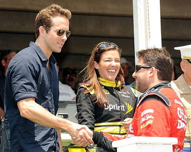 Ryan Reynolds served as the honorary chair at the Pocono 500.