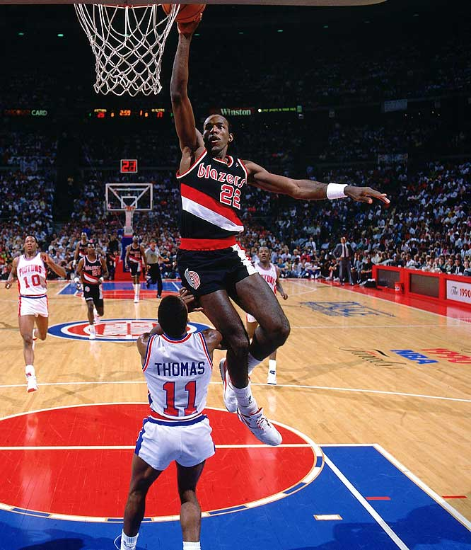 "Olympic gold medalist and 10-time all-star Clyde Drexler had an impressive vertical leap that could glide him right to the basket. It was that vertical leap that earned Drexler the nickname ""The Glide."""