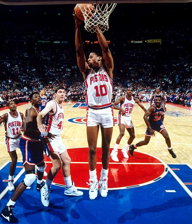"Rodman was known as much for his strange persona as his prolific rebounding (He averaged 18.7 per game as a member of the Pistons during the 1991-92 season). As a boy growing up in Dallas, Rodman's friends started calling him ""Worm"" due to how he squirmed while playing pinball."