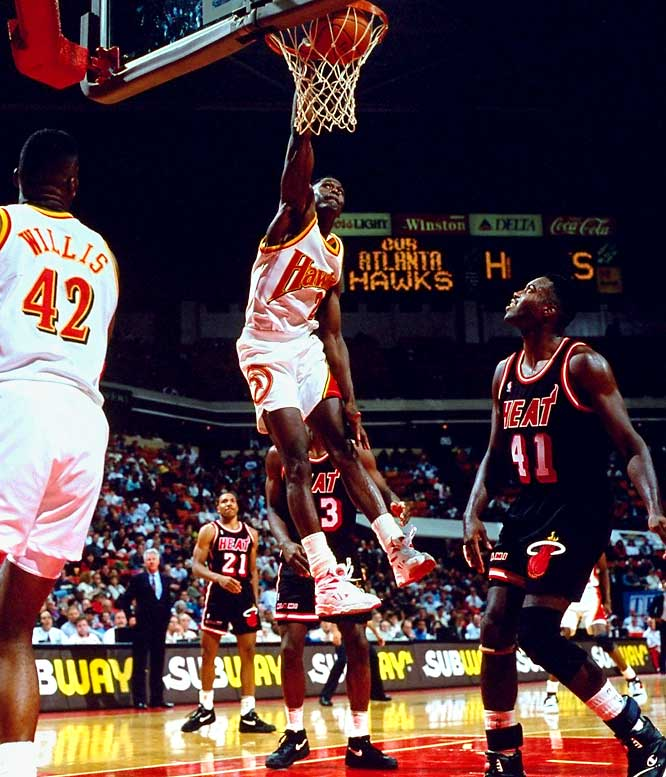 "Wilkins' nickname traces back to his college days at Georgia, although exploits of his high flying acrobats came even before that. Once Wilkins reached the NBA, he quickly became known for his spontaneous, show stopping dunks. That ability, coupled with his two slam dunk championships and regular scoring outbursts, solidified Wilkins' status as the ""Human Highlight Film."""