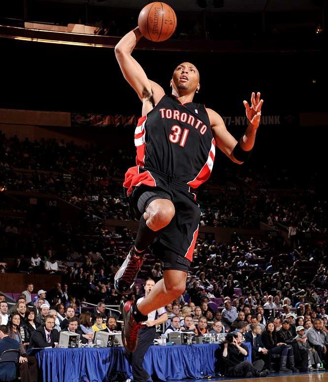 Marion was given this name by TNT analyst Kenny Smith during the preseason of his rookie year for his seemingly ridiculous athleticism. Though lately, The Matrix has been on the move, playing for both Miami and Toronto last season before landing in Dallas with a five-year contract worth an estimated $39 million.