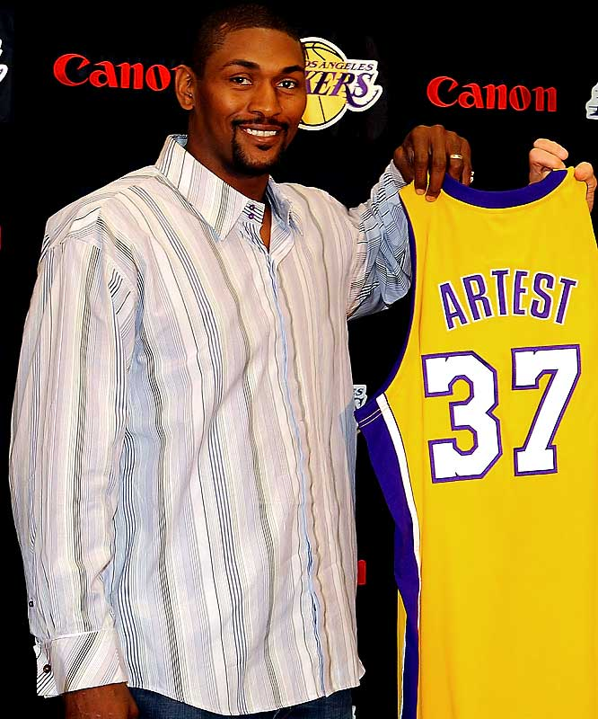 Long enamored with the idea of playing in Los Angeles, Artest finally got his wish as the Lakers parted ways with Trevor Ariza and agreed to a three-year, $18 million deal with the former Houston Rocket.