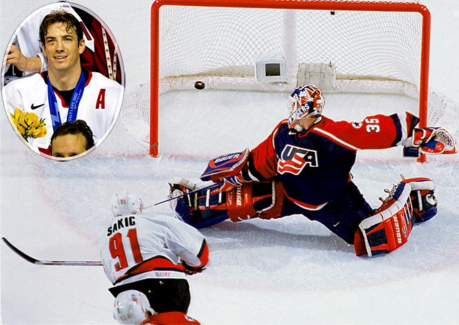 Sakic made his second Winter Games appearance in 2002 and became a national hero. He won tournament MVP honors, scoring four points against the U.S. in the championship game as Canada won its first Olympic gold medal in 52 years.