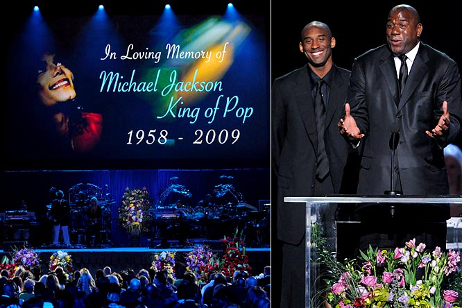 One of the highlights of Jackson's public memorial at the Staples Center was Kobe Bryant and Magic Johnson getting on stage to eulogize their friend. During his speech, Magic said eating a bucket of Kentucky Fried Chicken with the King of Pop was the highlight of his life.