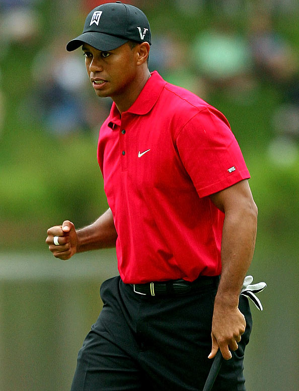 "After Federer won his 15th Grand Slam title, Woods texted his friend, ""Great job, now it's my turn."" Hours later, Woods delivered with a victory at the AT&T National. Woods, who has 14 major titles, also won a regular tour event on the same day Federer won the French Open last month. ""Hopefully, I can get the major now,"" Woods said. ""His wins are a hell of a lot bigger than mine."""