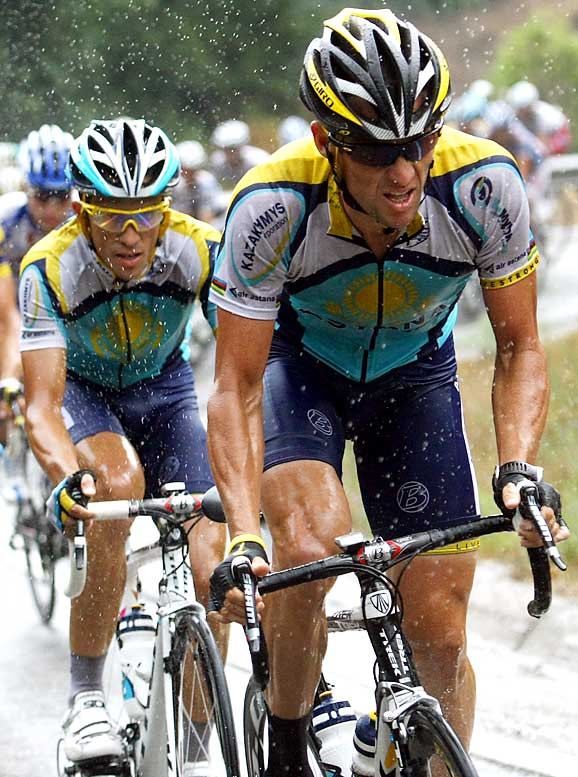 To no one's surprise, Armstrong isn't content taking a backseat to teammate Alberto Contador (left) or anyone else at the Tour de France. The problem with Armstrong's return is that it has quickly gone from a feel-good story to a Brett Favre-like story, with Armstrong trying to strong-arm Contador from a chance at winning the Tour.