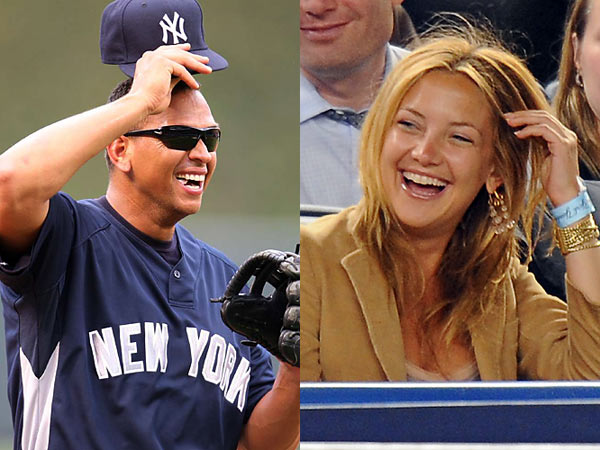 "While Kardashian and Simpson have fallen by the wayside, we must thank Alex Rodriguez for still being linked to Kate Hudson. Not only has Hudson suddenly risen to the top of the sports/pop culture radar, but also, unlike Kardashian and Simspson, she's actually a good-luck charm. The Yankees were 20-17 before Hudson and Rodriguez were seen in public and they're 40-21 since then. Maybe that's why Joe Girardi is making it a point to make sure Rodriguez has some time off during the season to, er ""get a breather."""