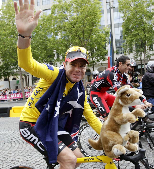 At age 34, Evans became the oldest person in the past half-century to win the Tour de France when he took the title July 24. The Aussie took the lead in the next-to-last day to capture his first win in the prestigious event.